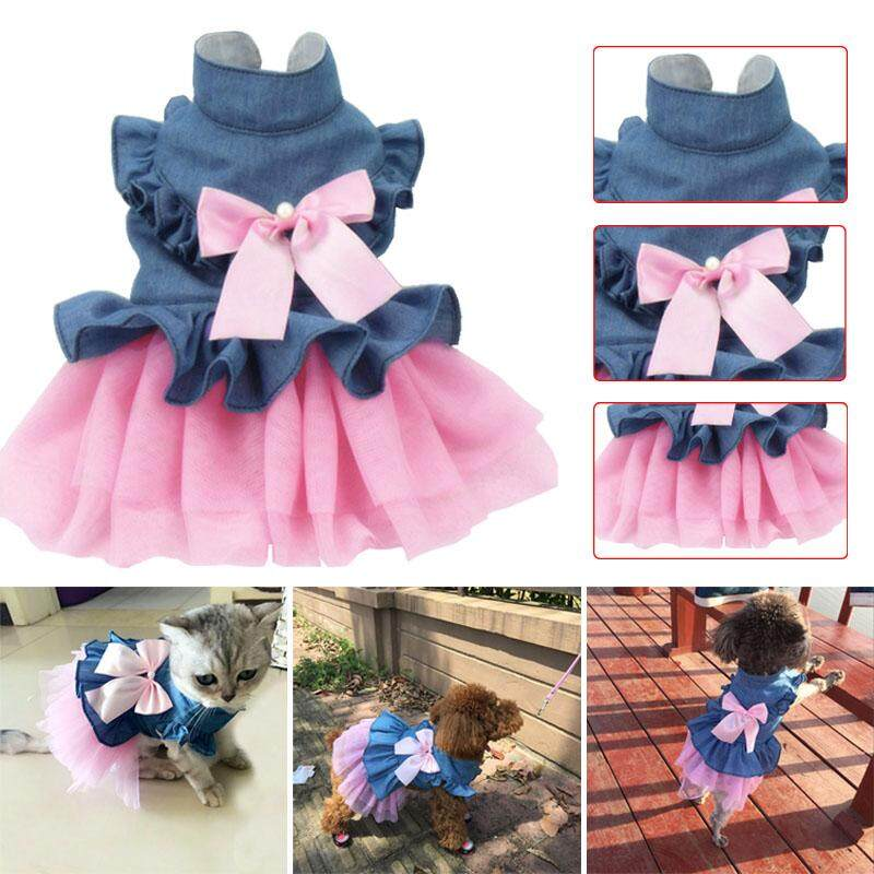 B-F Dog Pet Dress Wedding Puppy Bowknot Dresses Clothing Summer Pets Clothes By B-Fashion.