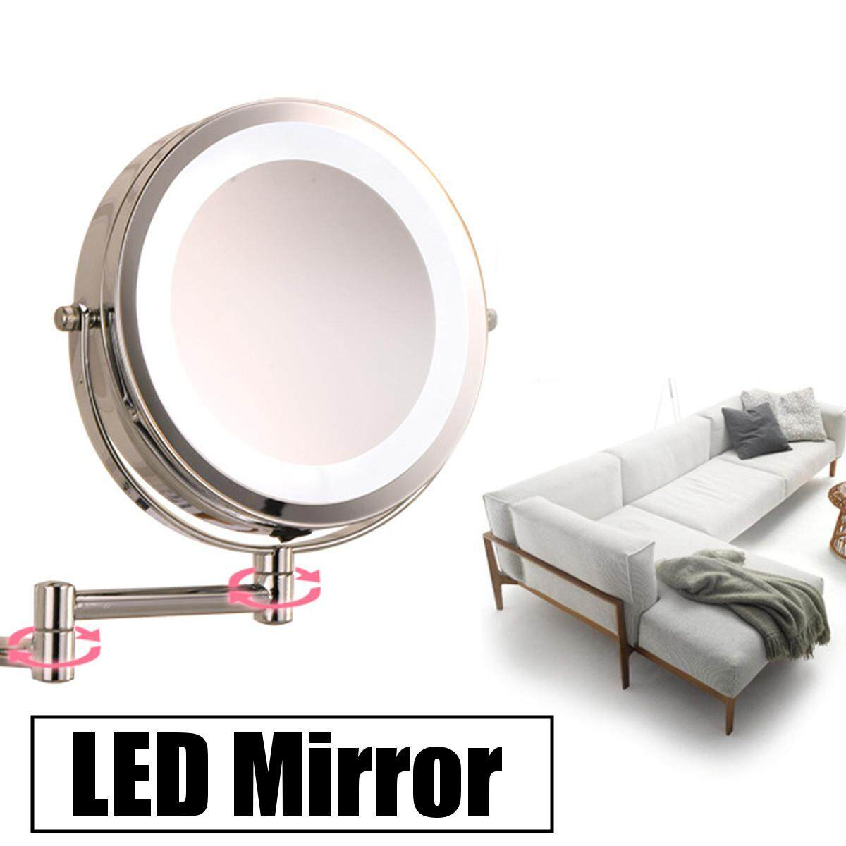 Flexible Folding Led Cosmetic Mirror By Moonbeam.