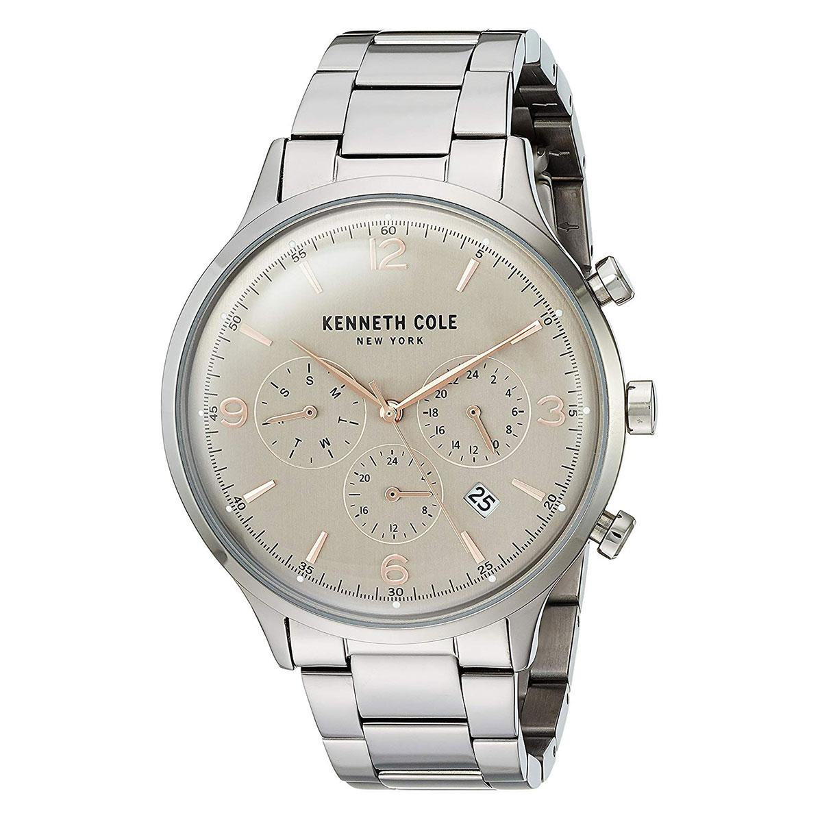 0f7ee9aa8 Kenneth Cole Multifunction Grey Stainless-Steel Case Stainless-Steel  Bracelet Mens KC15177005