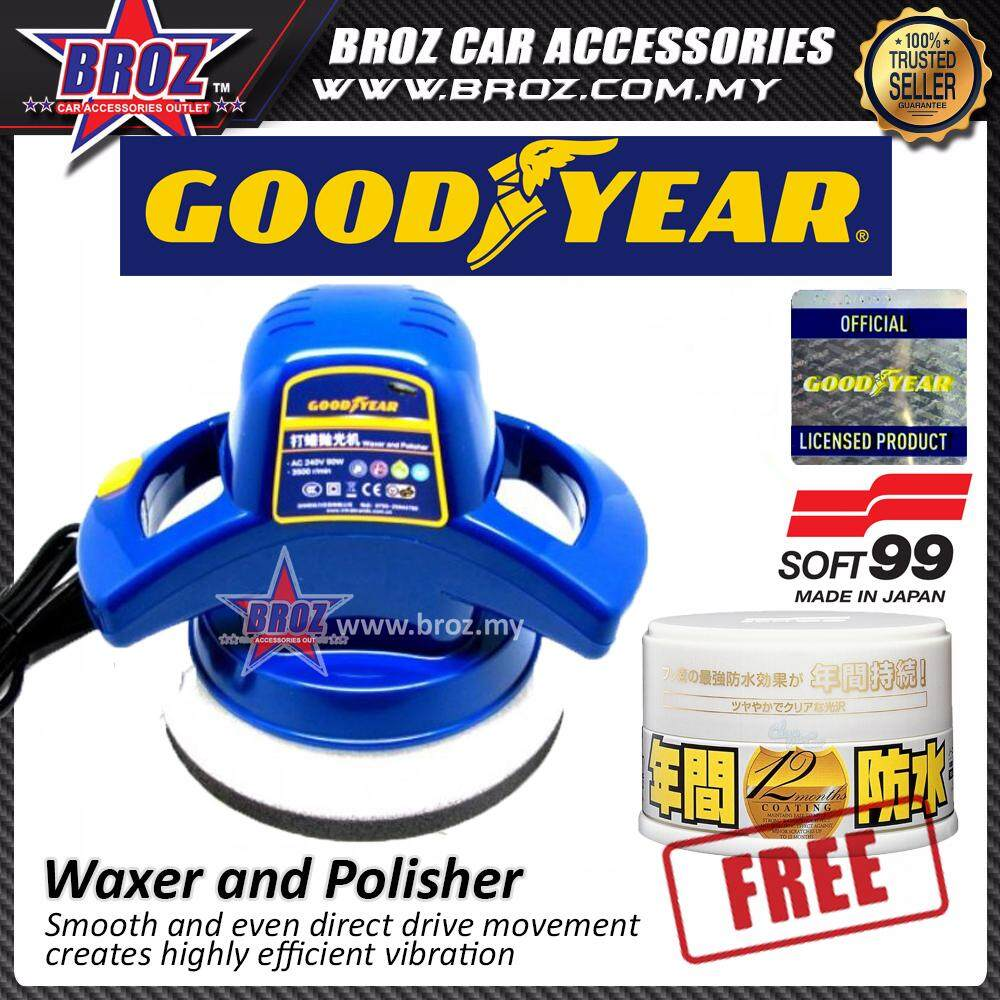 Broz Goodyear GY-2848 Car Waxer and Wax Polisher +Free Soft 99 Fusso Coat White Color