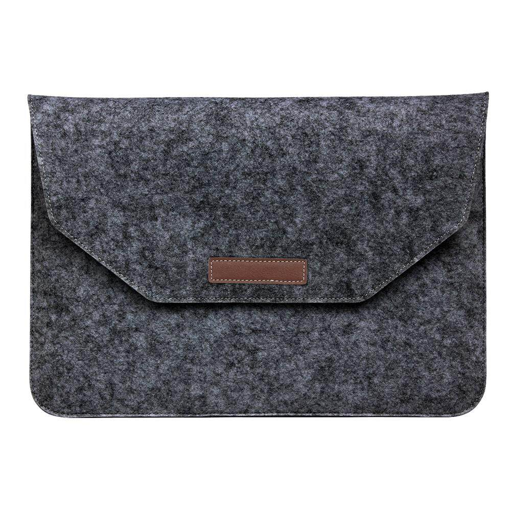 Fashion Soft Sleeve Bag Case For Apple Macbook Air Pro Retina 11 inch Laptop Anti-scratch Cover For Mac book- Dark Gray