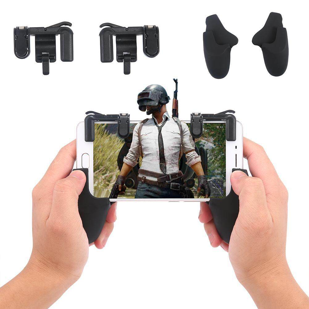 Niceeshop Updated Mobile Game Controller For Pubg, Sensitive Shoot And Aim Keys L1 R1 Joysticks Shooter Controller For Kn Ives Out/rules Of Survial Gaming Triggers For Ios And Android - Intl By Nicee Shop.