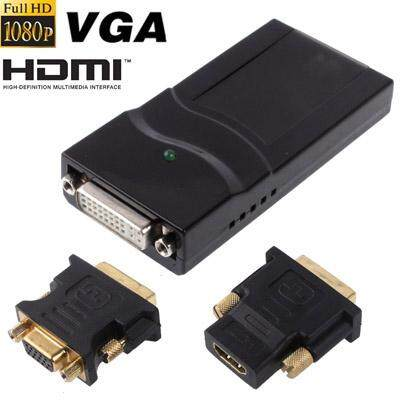USB 2.0 to DVI / VGA / HDMI Display Adapter, Support Full HD 1080P, Expandable up to 6 Display Units - intl