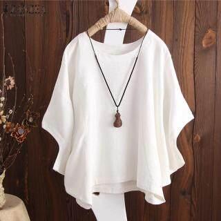 Áo cánh Zanzea cỡ lớn rộng bằng chất liệu cotton co giãn thích hợp cho nữ mặc thường ngày - INTL thumbnail
