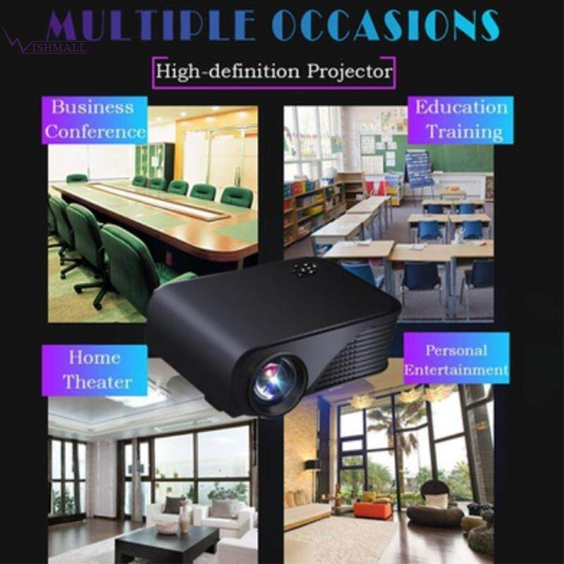 Wishmall Video Projector Multimedia Projector HD Projector 1080P 1800 Lumens