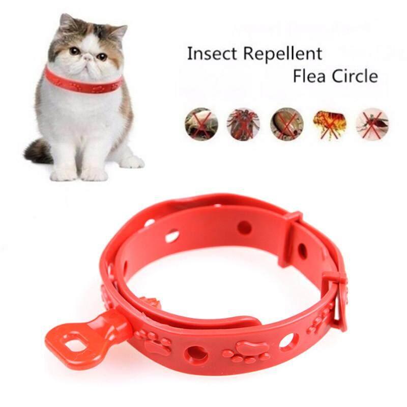 สัตว์เลี้ยงปลอกคอสุนัข Anti ยาไล่ยุงและแมลงซิลิโคนกำจัดเห็บหมัดป้องกัน By Beauty Wisdom.
