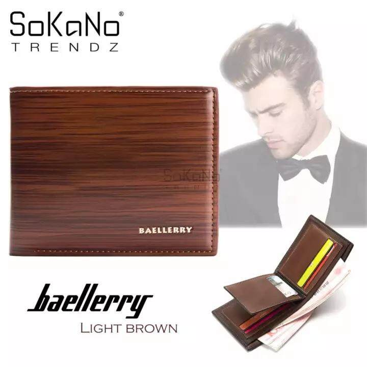 (RAYA 2019) SoKaNo Trendz BAELLERRY DR005 Best Gift Classical Wooden Strap Men Wallet