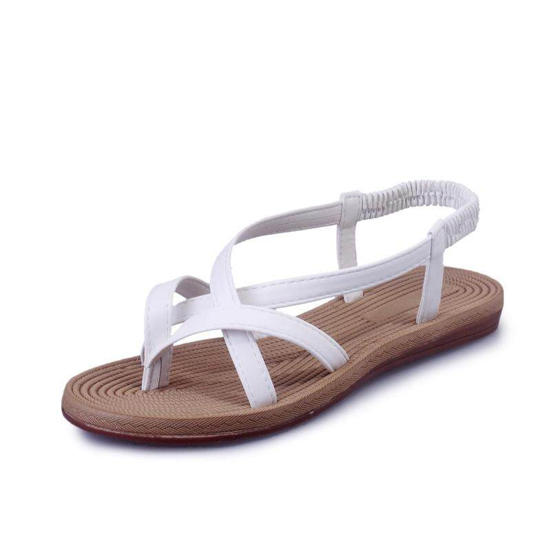 f19652aee9f Women Sandals Flat With Shoes Bandage Bohemia Leisure Lady Sandals Peep-Toe  Outdoor Women s Summer