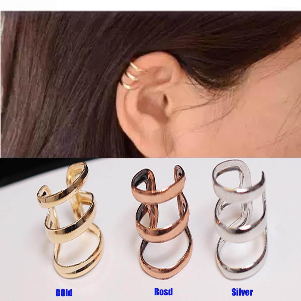BAC 1 Pair Unisex Fashion Punk Rock Ear Clip Cuff Wrap No Piercing-Clip On