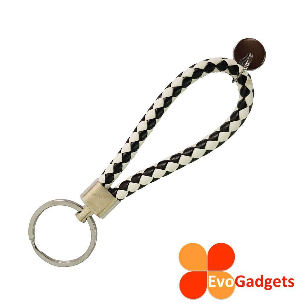 Creative Woven Rope Keychain - Simple and Stylish (Diamond - Black and White)
