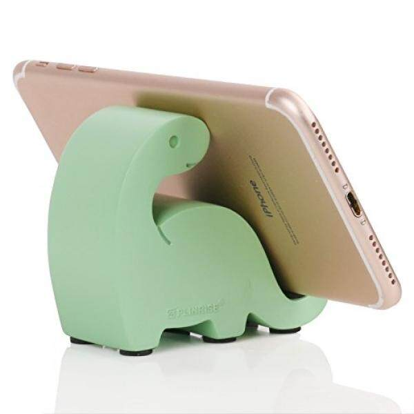 Smartphone Cases Stands Plinrise Resin Art Craft Cute Mini Dinosaur Desktop Cell Phone Stand Mounts,Candy Color Animal Dino Smart Phone Holder For iPhone iPad Samsung Tablet Kindle - LightGreen - intl