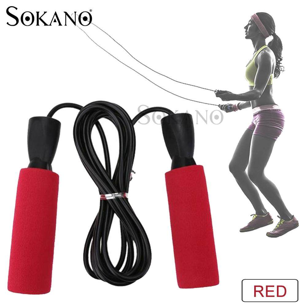(RAYA 2019) SOKANO Jumping Rope 02 Skipping Ropes 10 Feets for Fitness Training Exercise Workout Speed Skip Training Athletic Sports Gym Jump Rope Bersenam Melompat Tali