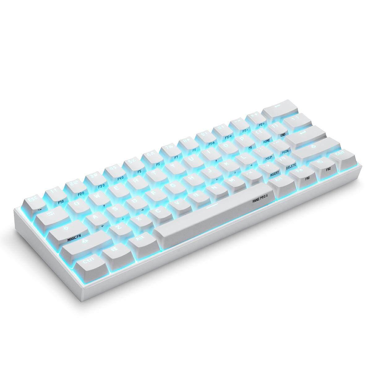 Obins ANNE PRO 2 Gateron Switch USB RGB Mechanical Gaming Keyboard  Bluetooth Backlit 61 Keys (Brown /Red /Blue Switch)