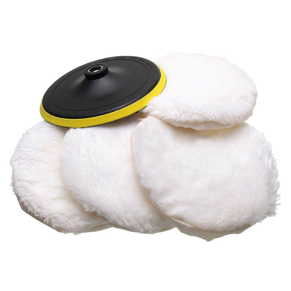 5pcs Polisher/buffer Kit Soft Wool Bonnet Pad White:6 Inch By Yomichew.