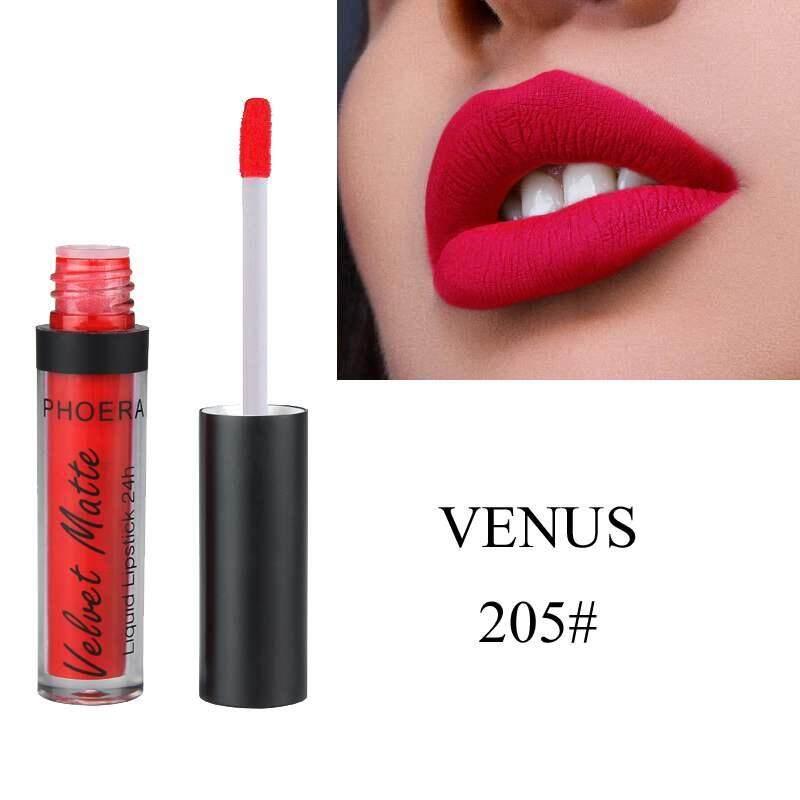 Jayoyi Phoera (205 # Venus) Seksi Rouge Alami Tahan Air Lipstik Pelembab Beludru Matte Cangkir Anti Lengket Pelembap Bibir