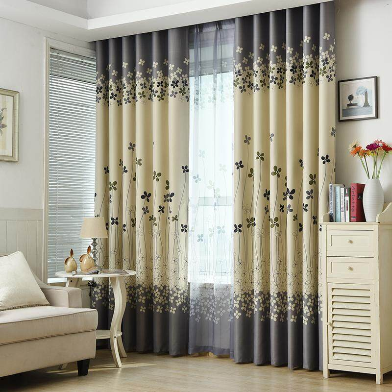[OrangeHome] 200*250 CM (1 pc) Blackout Curtain Drape Ring/Eyelet/Punch Window Room Bedroom Balcony Green A01-MDXH - intl