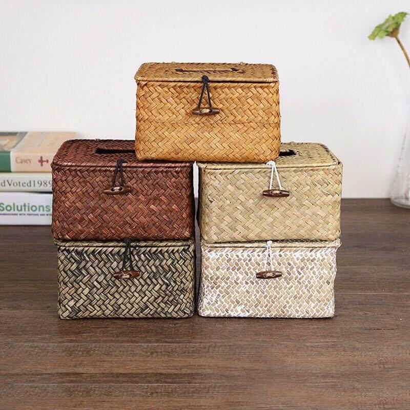 Storage Basket Woven Bag Rattan plaited articles Handwork Tissue