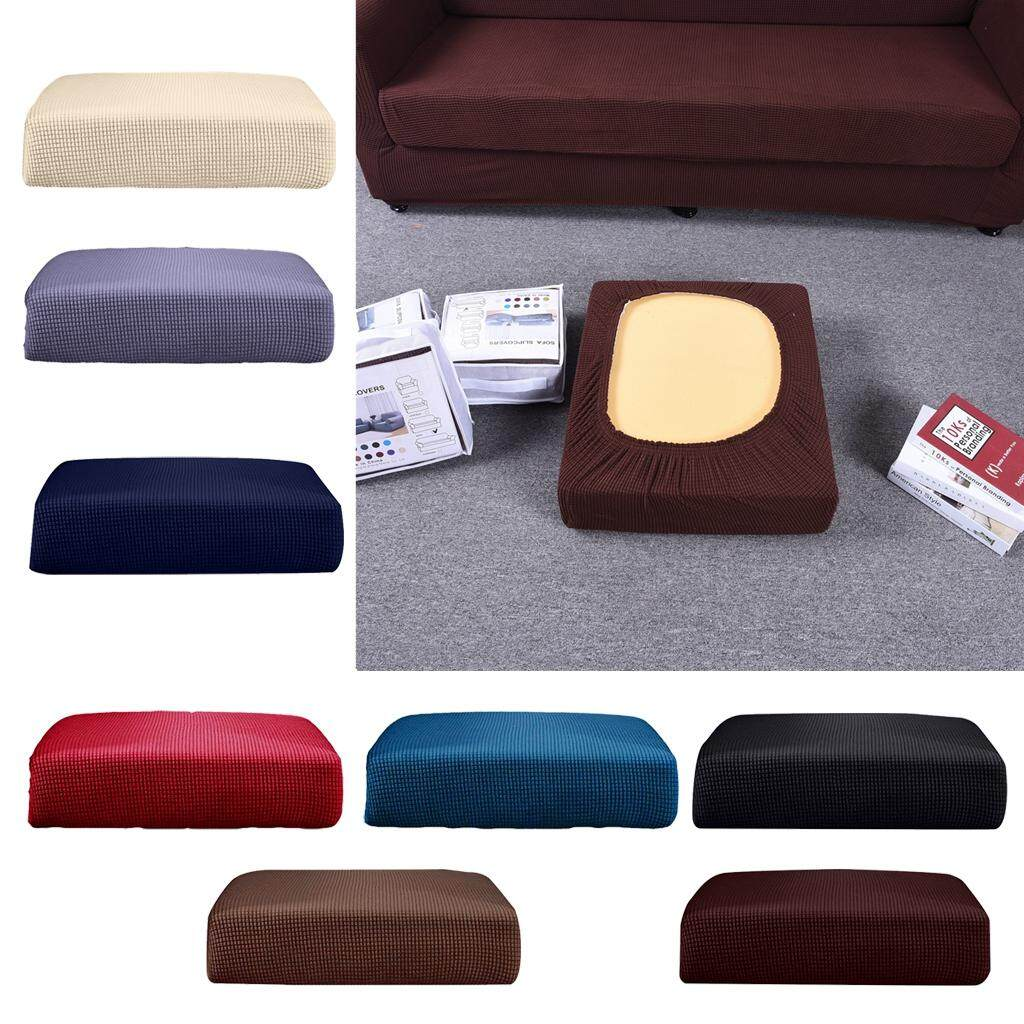 Loviver 2Pcs Cream _Size S Sofa Seat Cushion Cover Couch Bench Slipcover Protector