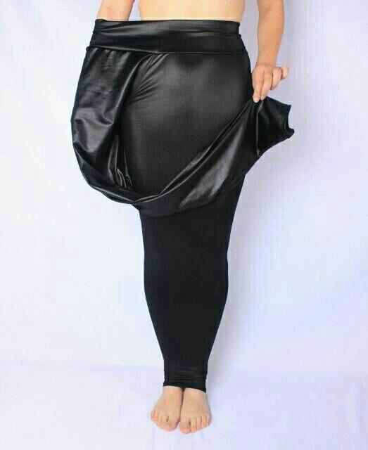 Plus size faux leather pant
