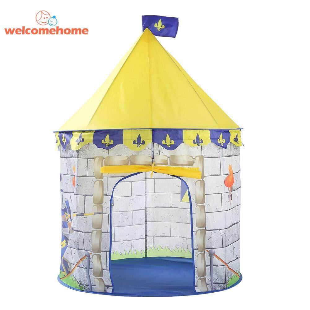 Hình ảnh Play Tent Portable Prince Pricess Folding Children Castle Cubby Play House