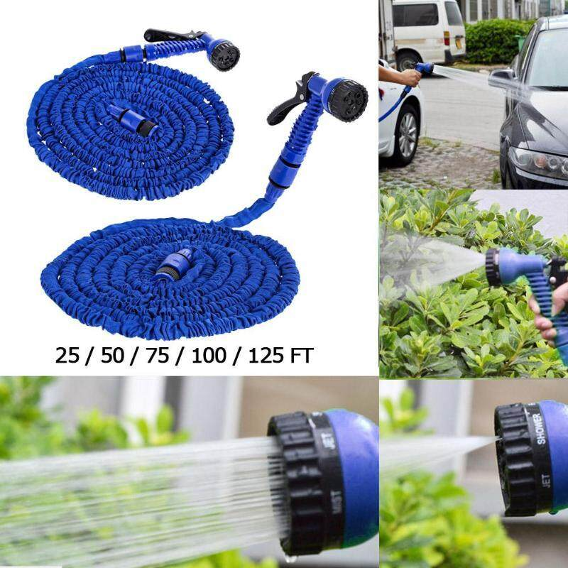 Vigo 75ft 7 In 1 Expandable Garden Watering Hose Flexible Plastic Irrigation Hoses Water Pipe with Sprayer For Garden Car Washing