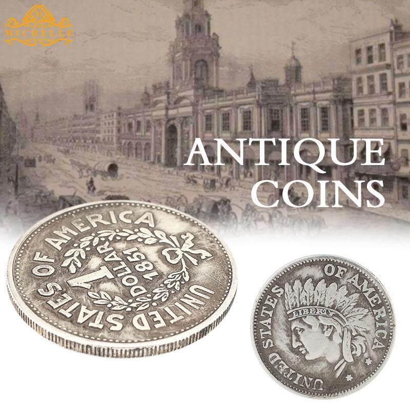 Koin Koleksi Koin Peringatan Bulat Emulasi 1851 Tembaga Non Mata Uang