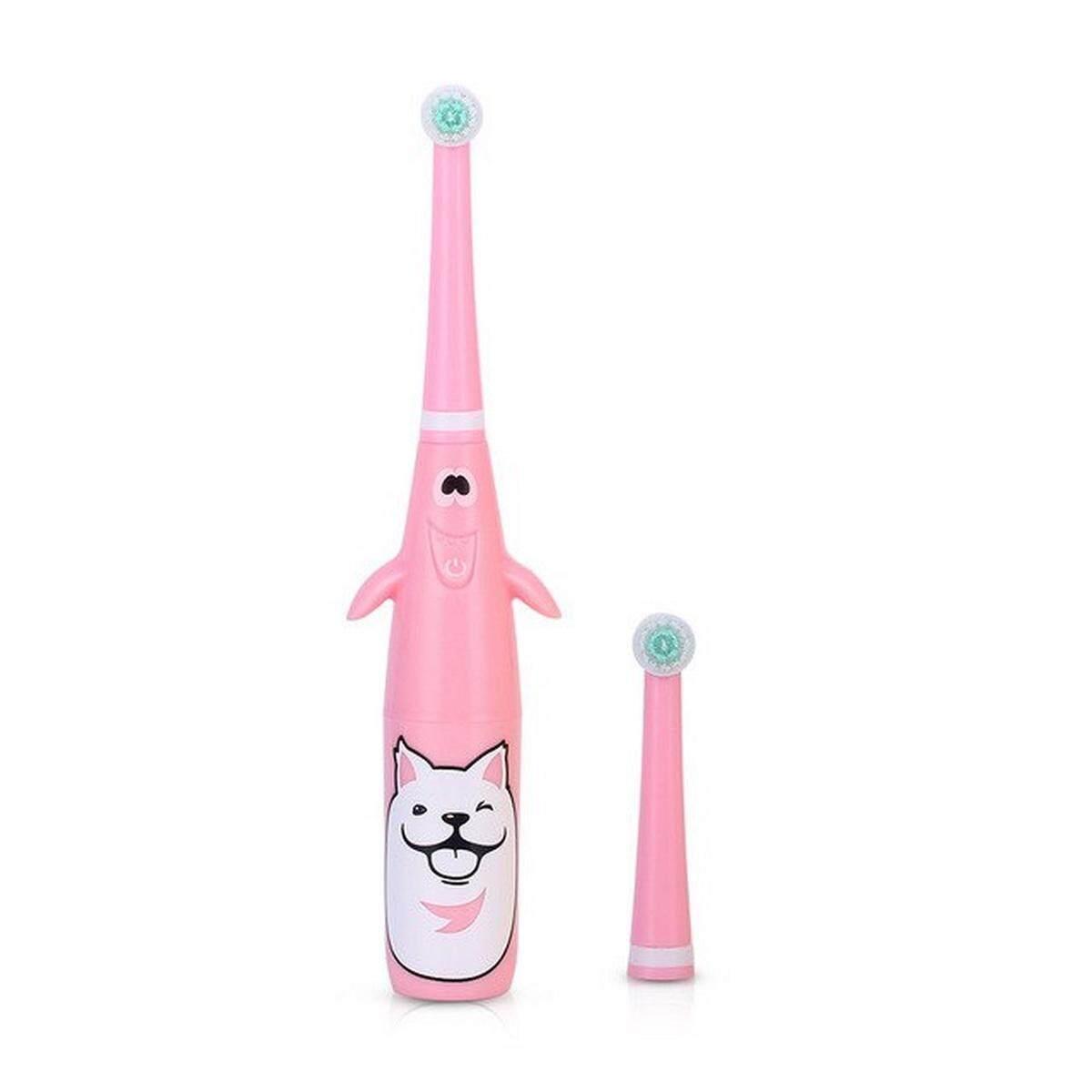 แปรงสีฟันไฟฟ้า รอยยิ้มขาวสดใสใน 1 สัปดาห์ พิษณุโลก แปรงสีฟันไฟฟ้ากันน้ำนุ่ม 3D ประเภทการหมุนอัตโนมัติแปรงสีฟันหัวส่วนบุคคลดูแลเด็กสีชมพู สีเหลือง สีน้ำเงิน