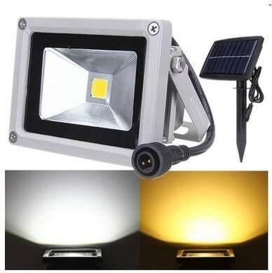 【Clearance Sale】Justgogo 10W Solar Powered LED Flood Lamp Outdoor Garden Yard Path Camping Light Warm White