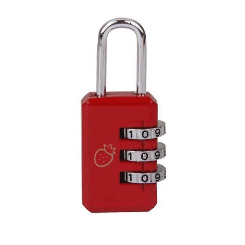 ... 4 3 Kombinasi Lemari Keamanan Gembok Bagasi Perak Kode-Intl - 5