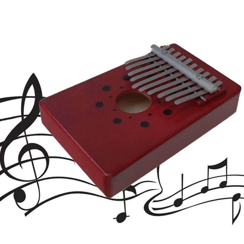 African Natural Wood Kalimba Mbira Thumb Piano 10 key nyunga Kalimba 10 Key Kalimba Single Board Mahogany Thumb Piano Mbira with Tone Sticker Malaysia