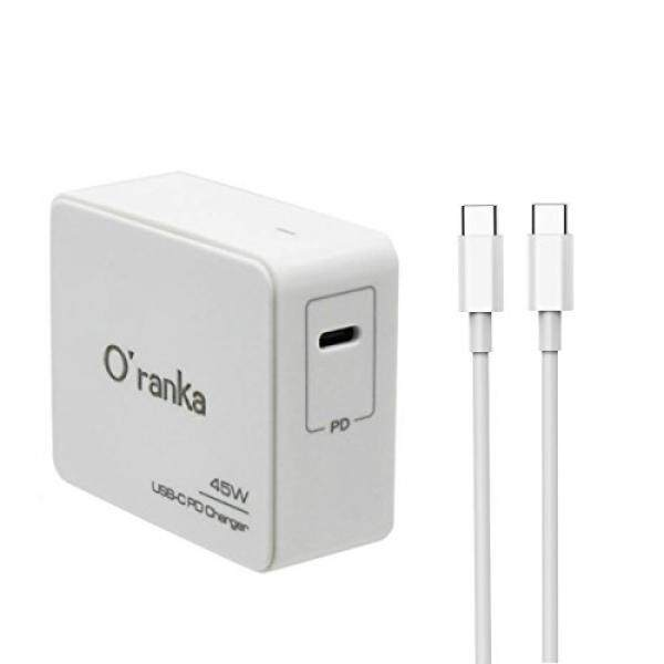 Komputer Adaptor Kabel Oranka 45 W Tipe-C PD Suplai Pengisi Daya Kabel Adaptor untuk MacBook Pro 13 Inch Nintendo Switch Chromebook pixel Hp/Dell/Lenovo Laptop Huawei Buku Pasangan Samsung Notebook MOTO Z Iphone X/8/8 PLUS (45W-White) -Intl