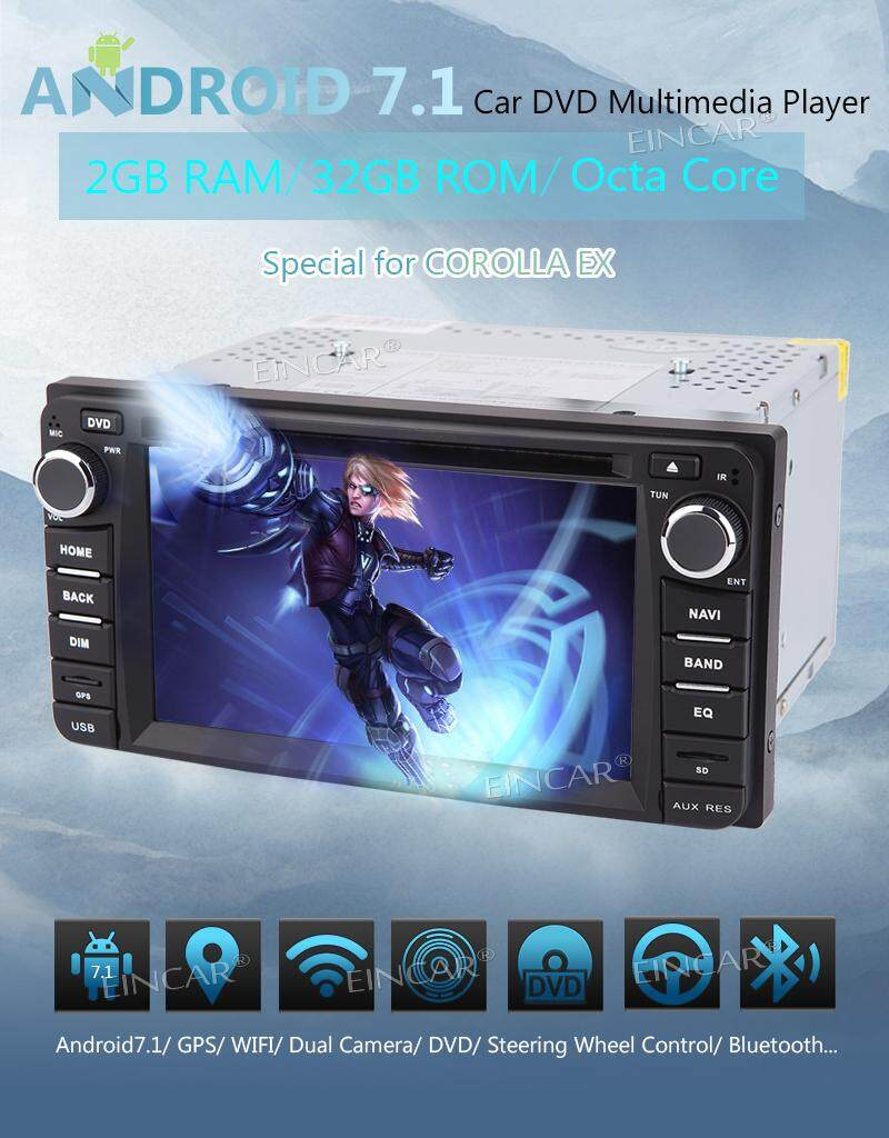 Android 7.1 GPS Navigation 6.2 inch Capacitive Multi Touch Screen Car PC for TOYOTA Corolla EX 2008~2013 In Dash Car Stereo Multimedia Head Unit CD Autoradio Auto DVD Player Support Mirror link