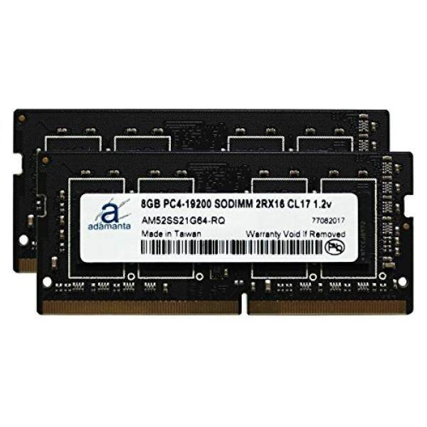 Adamanta 16 GB (2X8 GB) memori Laptop Meng-upgrade untuk HP ZBOOK 15 G4 & ZBOOK 17 G4 Ponsel Workstation dengan Intel I5 & I7 Prosesor DDR4 2400 MHz PC4-19200 SODIMM 2Rx16 CL17 1.2 V Ram DRAM-Intl