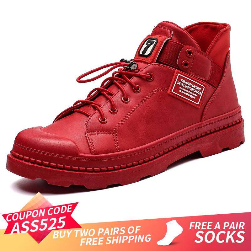 ASS Mens Work Shoes Safety Leather Insulated Construction Martin Boot High  Top Singapore 69143e9bdbaf