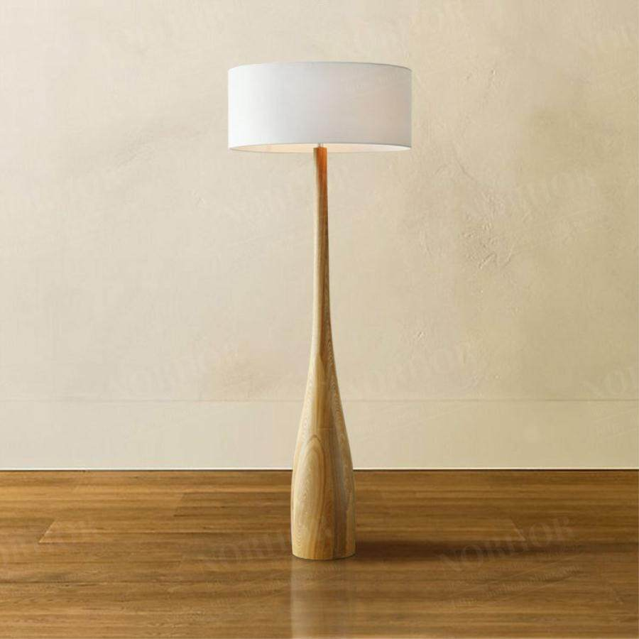 Modern Simple Log Cloth Art Floor Lamp Bedroom Reading Room Floor Lamp Creative Led Floor Lamp - intl