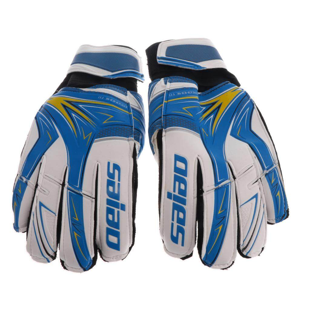 Flameer Soccer Goalie Goalkeeper Gloves Pro Football Finger Saver For Youth Blue By Flameer.