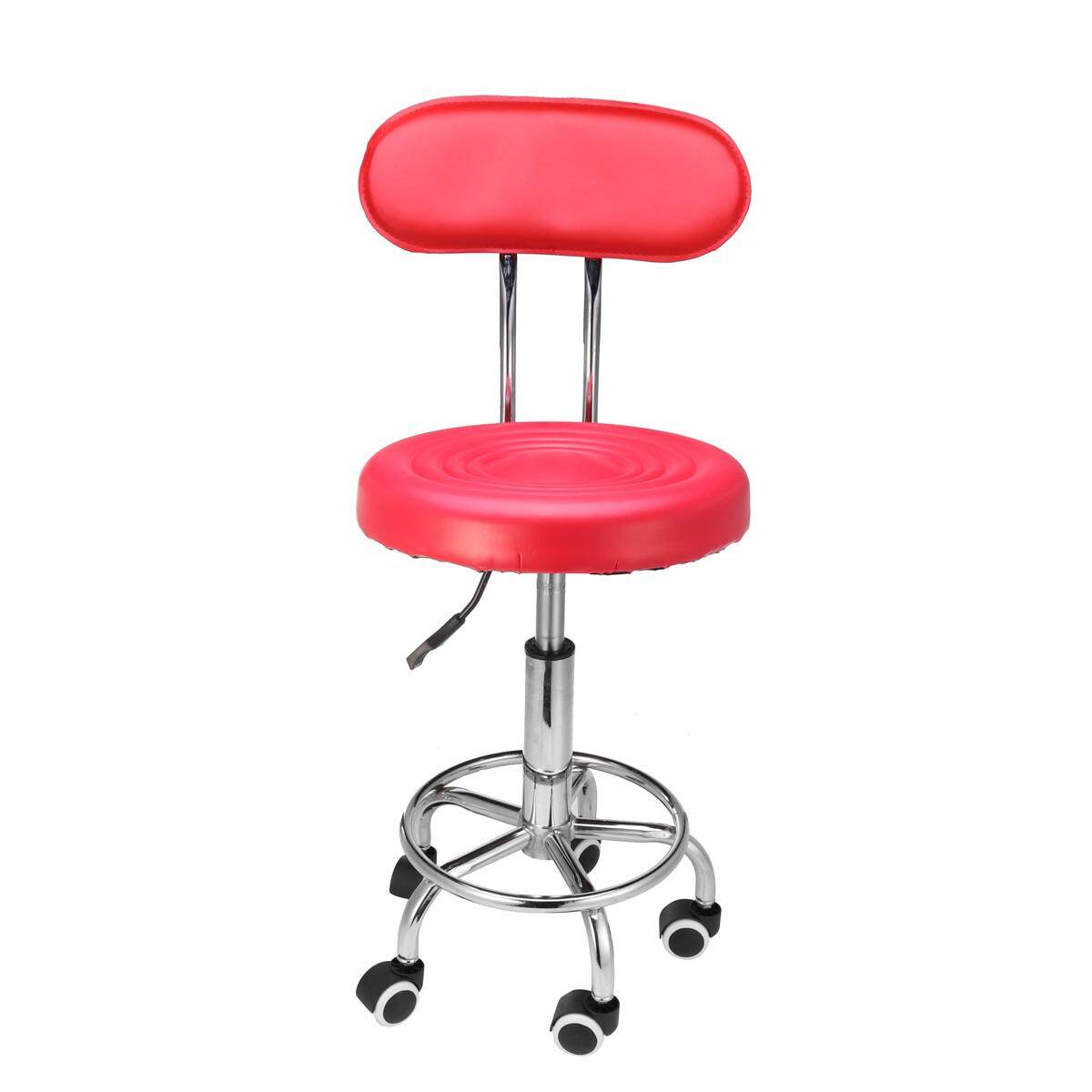 Salon Stool Chair Swivel Backrest Hairdressing Barber Beauty Hydraulic Lift AU Red