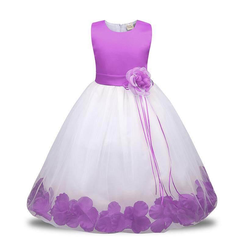 Summer Girl Dress Petal Sleeveless Dress Baby Child Princess Dress Kid s  Clothing LA06 LAW035 - intl 2d454d926