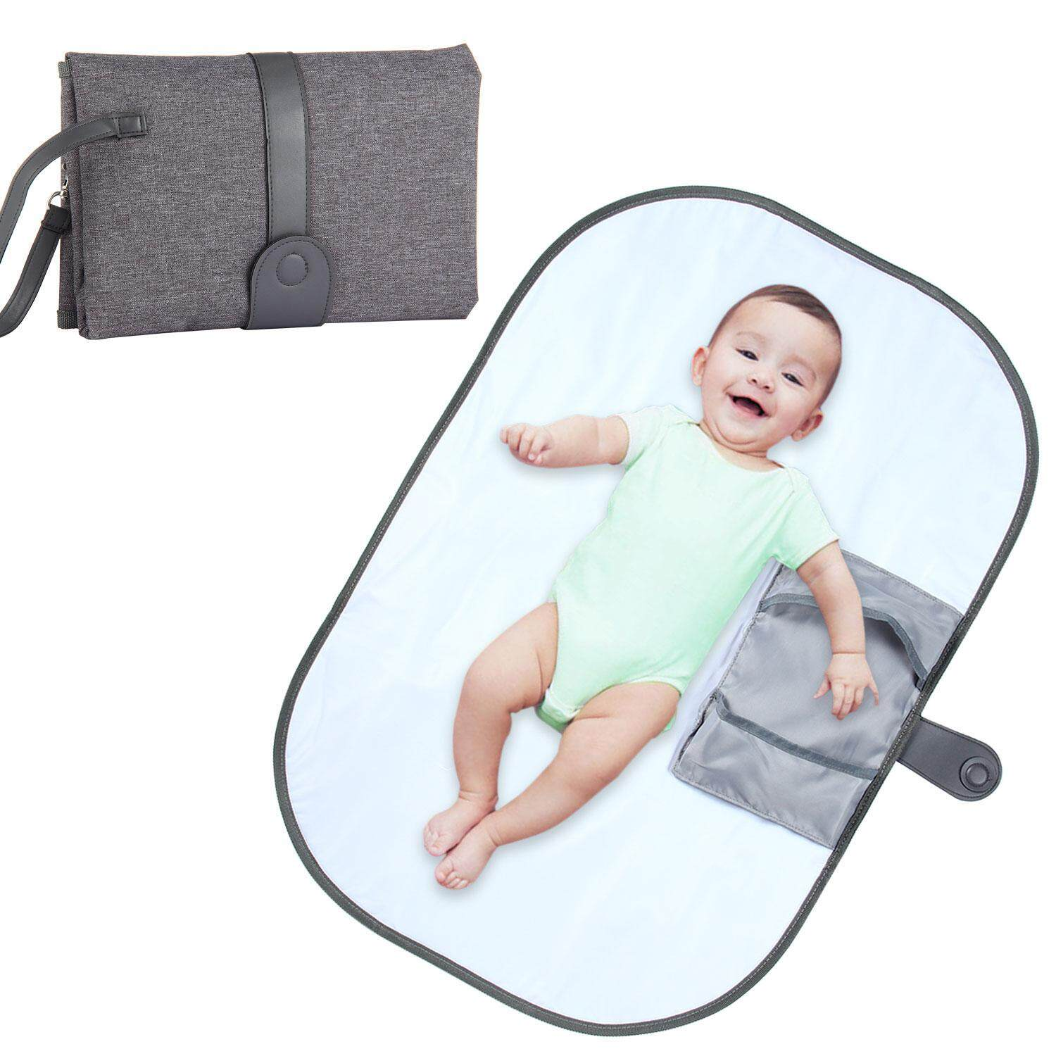 Leegoal Portable Nappy Changing Pad, Waterproof Diaper Changing Mat With Storage Pockets And Strap By Leegoal