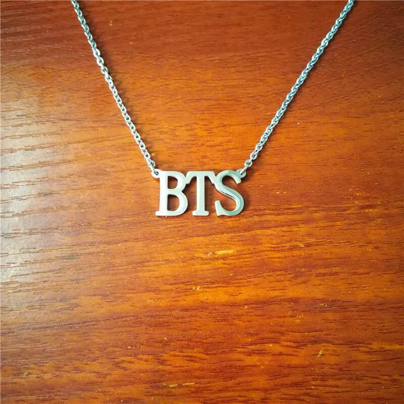 Youpop KPOP BTS Love Yourself Army Album Bangtan Boys Choker JIMIN V SUGA JUNGKOOK JIN RAPMONSTER JHOPE Pendant Name Letter Necklace Rope Chain Jewelry Accessories Men Women