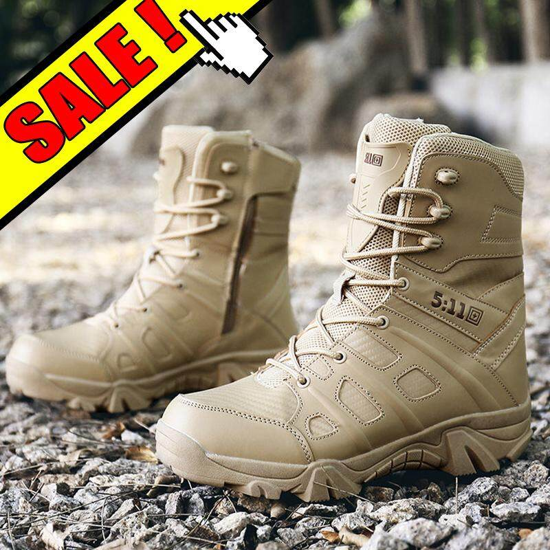 YEALON Men Tactical Boots Outdoor Military Boots For Men Tactical Shoes Summer Hiking Shoes Men Special Forces Desert Tactical Boots