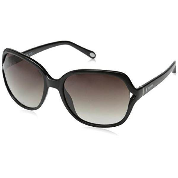 Fossil Womens FOS3020S Square Sunglasses, Black, 58 mm - intl
