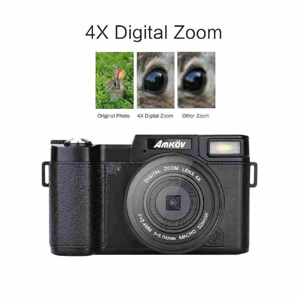 Queo Elektronik Anti-Shake Digital Kamera Self-Timer Kecantikan SLR 24 Juta Foto Piksel HD Layar Berputar Flip layar Kamera