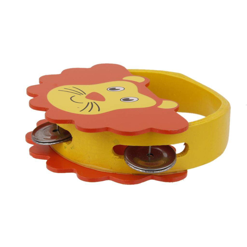 Miracle Shining Kids Wooden Tambourine - Lion - intl