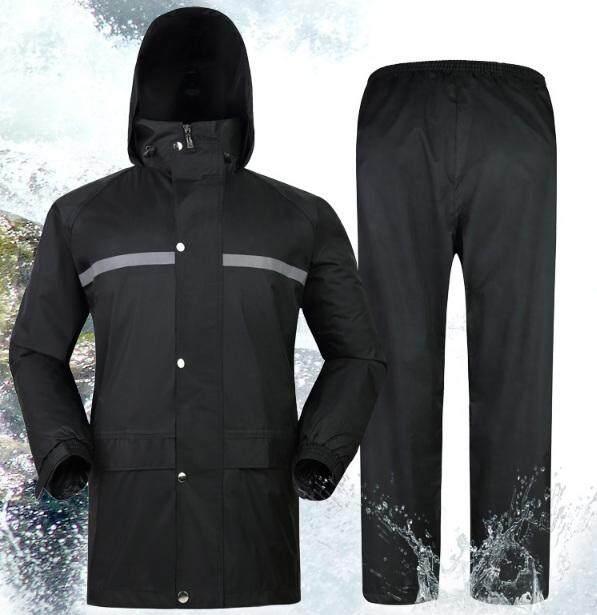 Raincoat Baju Hujan Double Layer Heavy Duty Waterproof Rain Honda Yamaha Ready Stock .