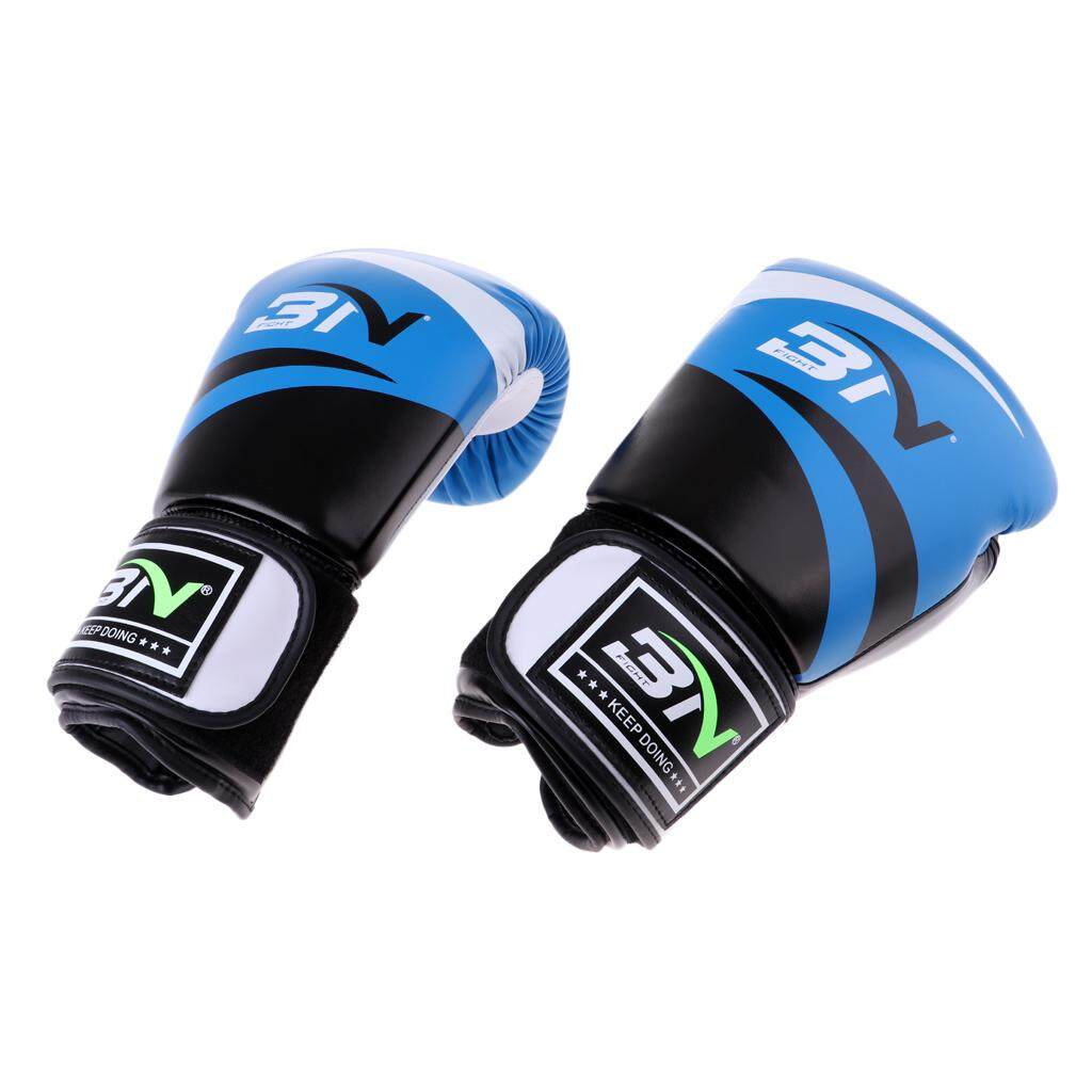Miracle Shining Durable Boxing Training Gloves MMA Karate Fighting Punching Mittens Blue