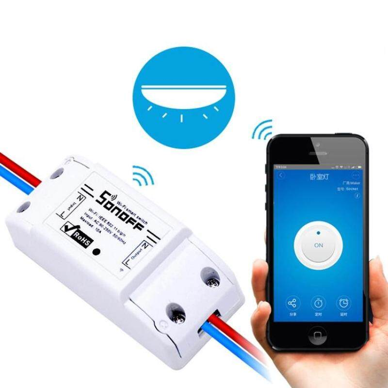 Sonoff eWelink Phone APP WiFi 2.4GHz DIY Smart LED Switch Remote Controller Module, Support Alexa Echo & Google Home Voice Control, AC 90-250V