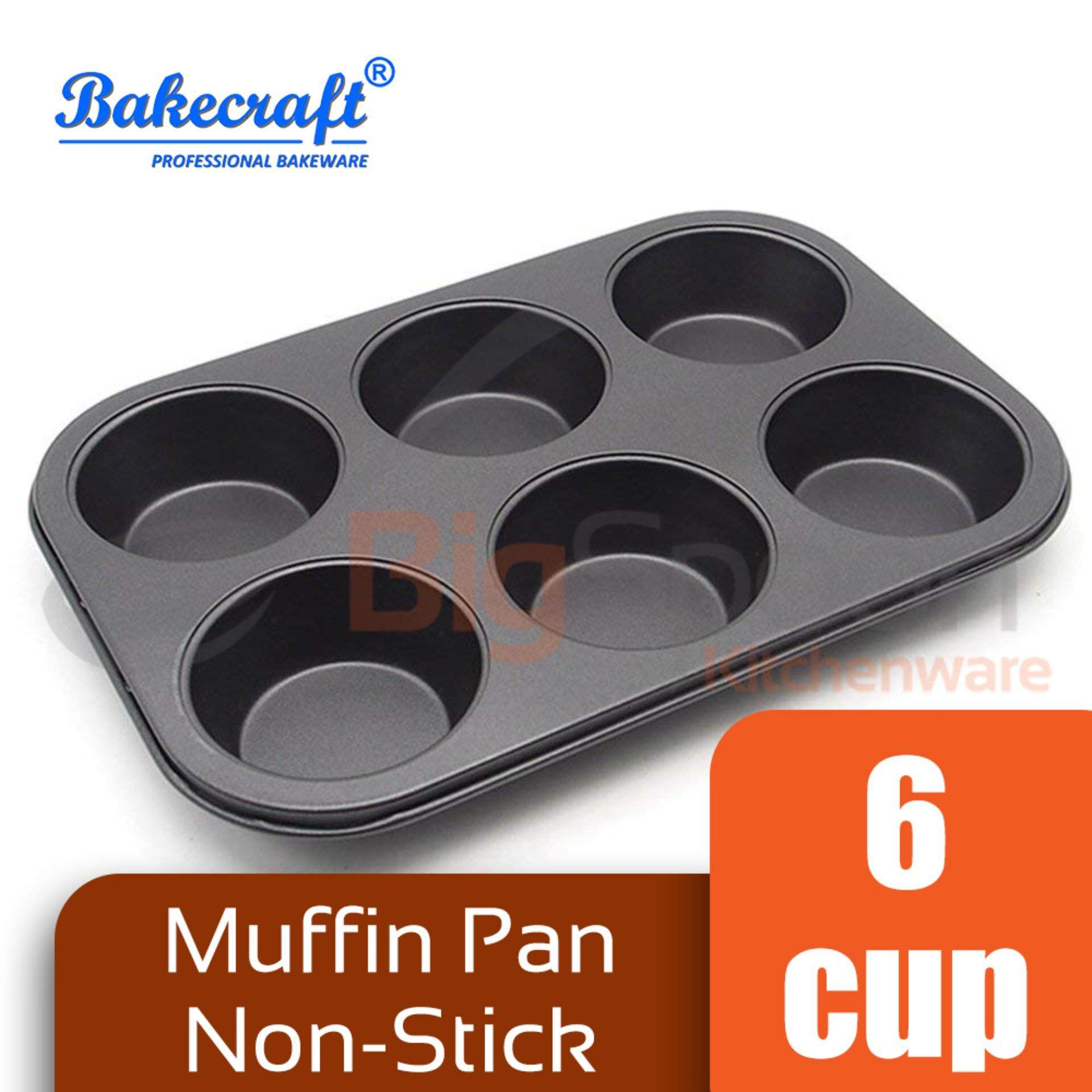 BAKECRAFT Muffin Pan 6 Cup Non-Stick