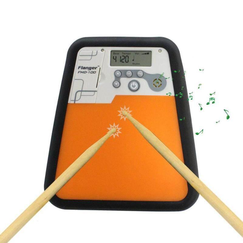 woppk Electronic Drummer Training Practice Drum Pad Metronome Instrument - intl