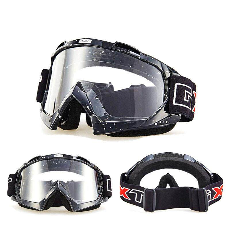 HLB Motorcycle Motocross Goggles Glasses for Helmet Racing Gafas Dirt Bike ATV MX Goggles Clear Tinted